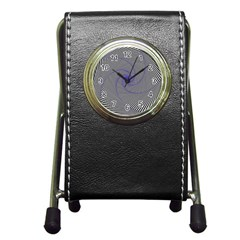 Hypnotisiert Stationery Holder Clock by Siebenhuehner