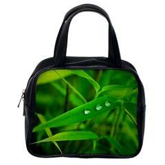 Bamboo Leaf With Drops Classic Handbag (one Side) by Siebenhuehner