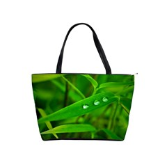 Bamboo Leaf With Drops Large Shoulder Bag by Siebenhuehner