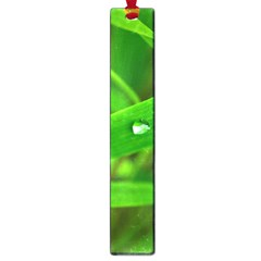 Bamboo Leaf With Drops Large Bookmark by Siebenhuehner