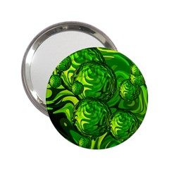 Green Balls  Handbag Mirror (2 25 ) by Siebenhuehner