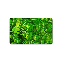 Green Balls  Magnet (name Card) by Siebenhuehner