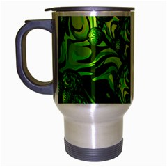 Green Balls  Travel Mug (silver Gray) by Siebenhuehner