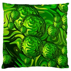 Green Balls  Large Cushion Case (two Sided)  by Siebenhuehner