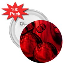 Red Bubbles 2 25  Button (100 Pack)