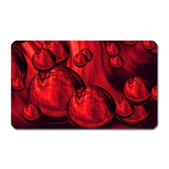 Red Bubbles Magnet (rectangular) by Siebenhuehner