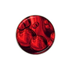 Red Bubbles Golf Ball Marker (for Hat Clip) by Siebenhuehner