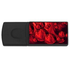 Red Bubbles 4gb Usb Flash Drive (rectangle) by Siebenhuehner