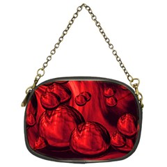 Red Bubbles Chain Purse (two Sided)  by Siebenhuehner