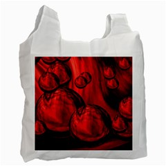 Red Bubbles Recycle Bag (one Side) by Siebenhuehner