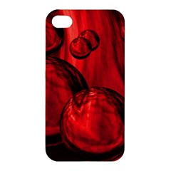 Red Bubbles Apple Iphone 4/4s Premium Hardshell Case by Siebenhuehner