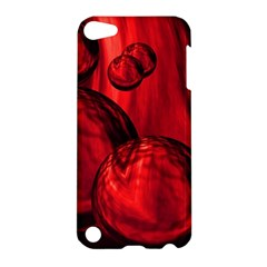 Red Bubbles Apple Ipod Touch 5 Hardshell Case by Siebenhuehner