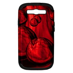Red Bubbles Samsung Galaxy S Iii Hardshell Case (pc+silicone) by Siebenhuehner