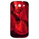 Red Bubbles Samsung Galaxy S3 S III Classic Hardshell Back Case Front