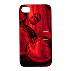 Red Bubbles Apple Iphone 4/4s Hardshell Case With Stand by Siebenhuehner