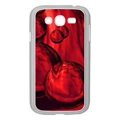 Red Bubbles Samsung Galaxy Grand Duos I9082 Case (white) by Siebenhuehner