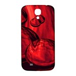 Red Bubbles Samsung Galaxy S4 I9500/I9505  Hardshell Back Case Front