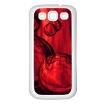 Red Bubbles Samsung Galaxy S3 Back Case (White) Front