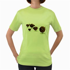 Zombie Cookie Womens  T Shirt (green)