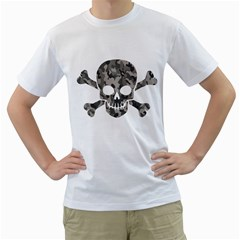Camo Skull Mens  T-shirt (white) by Contest1732250