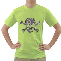 Camo Skull Mens  T-shirt (green) by Contest1732250