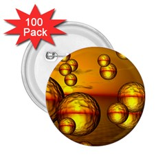 Sunset Bubbles 2 25  Button (100 Pack) by Siebenhuehner
