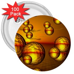 Sunset Bubbles 3  Button (100 Pack) by Siebenhuehner
