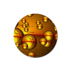 Sunset Bubbles Drink Coasters 4 Pack (round) by Siebenhuehner