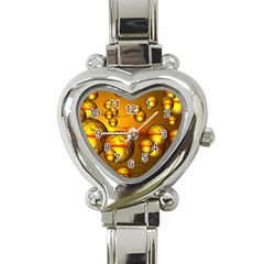 Sunset Bubbles Heart Italian Charm Watch  by Siebenhuehner