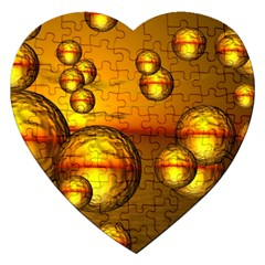 Sunset Bubbles Jigsaw Puzzle (heart) by Siebenhuehner