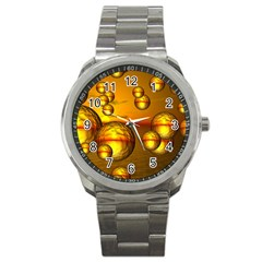 Sunset Bubbles Sport Metal Watch by Siebenhuehner