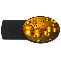Sunset Bubbles 4gb Usb Flash Drive (oval) by Siebenhuehner