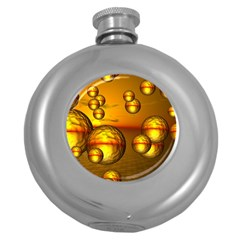 Sunset Bubbles Hip Flask (round) by Siebenhuehner