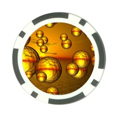 Sunset Bubbles Poker Chip by Siebenhuehner