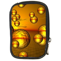 Sunset Bubbles Compact Camera Leather Case by Siebenhuehner