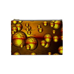 Sunset Bubbles Cosmetic Bag (medium) by Siebenhuehner