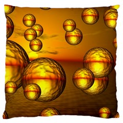 Sunset Bubbles Large Cushion Case (two Sided)  by Siebenhuehner