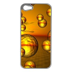 Sunset Bubbles Apple Iphone 5 Case (silver) by Siebenhuehner