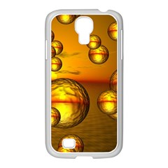 Sunset Bubbles Samsung Galaxy S4 I9500/ I9505 Case (white) by Siebenhuehner