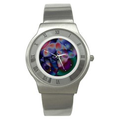 Multi Colour Stainless Steel Watch (unisex) by KKsDesignz