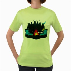 Boot Camp Womens  T Shirt (green) by Contest1769712