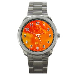Waterdrops Sport Metal Watch by Siebenhuehner