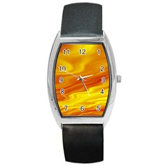Design Tonneau Leather Watch by Siebenhuehner