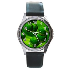 Magic Balls Round Metal Watch (silver Rim) by Siebenhuehner