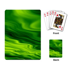 Green Playing Cards Single Design by Siebenhuehner