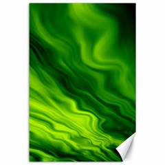 Green Canvas 24  X 36  (unframed) by Siebenhuehner