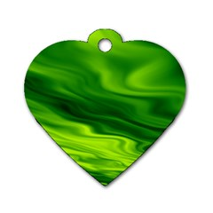 Green Dog Tag Heart (one Sided)  by Siebenhuehner