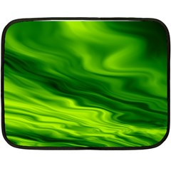 Green Mini Fleece Blanket (two Sided) by Siebenhuehner