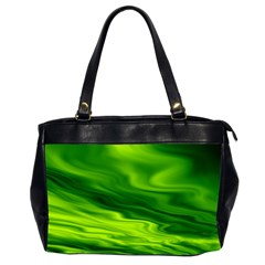 Green Oversize Office Handbag (two Sides)