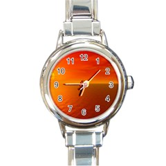 Sunset Round Italian Charm Watch by Siebenhuehner